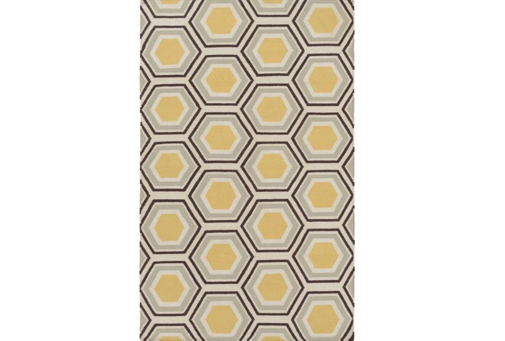 60X96 Rug-Shell Gold/Chocolate