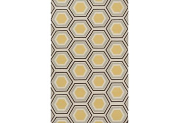 5'x8' Rug-Shell Gold/Chocolate