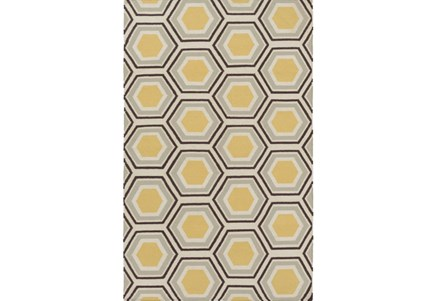 60X96 Rug-Shell Gold/Chocolate