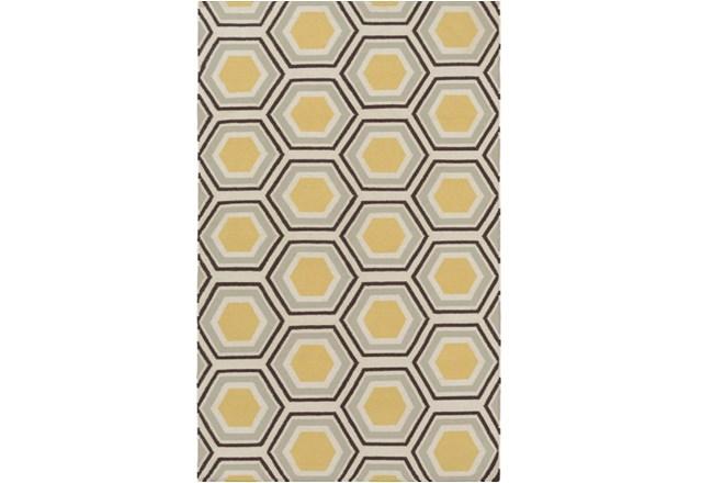 60X96 Rug-Shell Gold/Chocolate - 360
