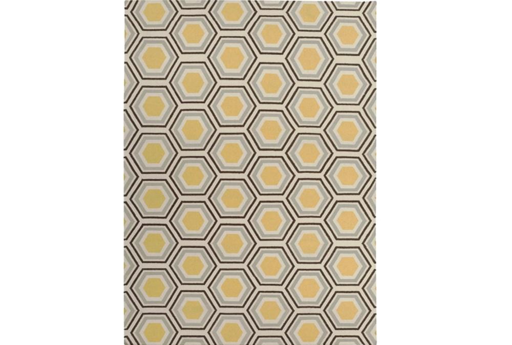 96X132 Rug-Shell Gold/Chocolate