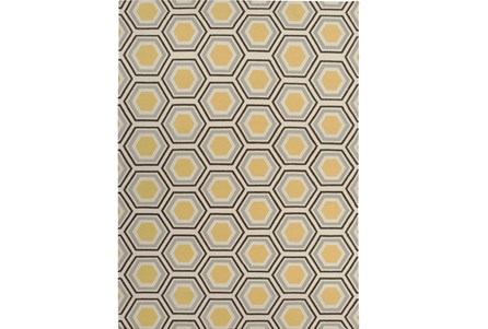 96X132 Rug-Shell Gold/Chocolate