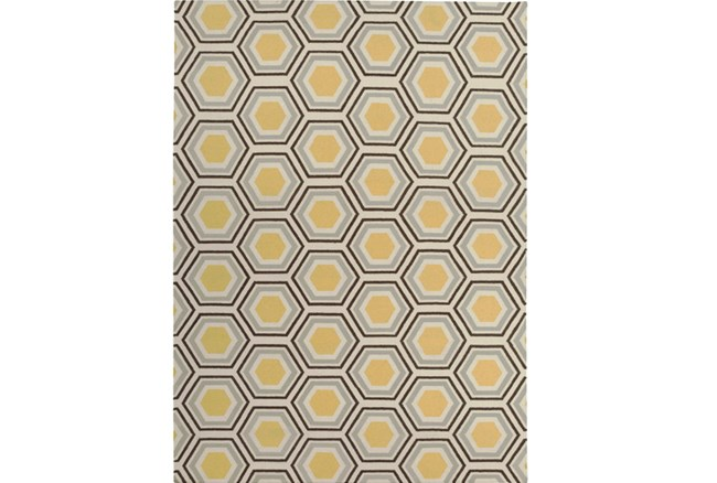 96X132 Rug-Shell Gold/Chocolate - 360