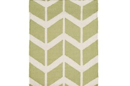 24X36 Rug-Azibo Green Chevron