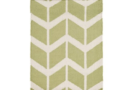 24X36 Rug-Azibo Green Chevron - Main