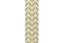 30X96 Rug-Azibo Green Chevron