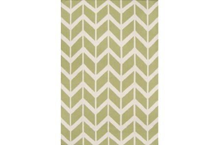 42X66 Rug-Azibo Green Chevron - Main