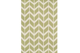 60X96 Rug-Azibo Green Chevron