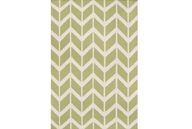 60X96 Rug-Azibo Green Chevron - 360