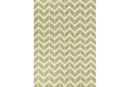 96X132 Rug-Azibo Green Chevron - Main