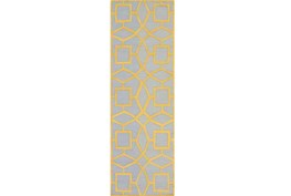 30X96 Rug-Sueno Slate/Gold