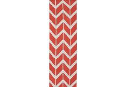 """2'5""""x8' Rug-Azibo Coral Chevron"""