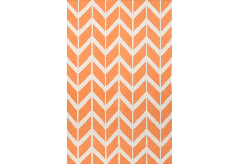 24X36 Rug-Azibo Orange Chevron