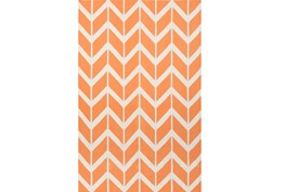 60X96 Rug-Azibo Orange Chevron