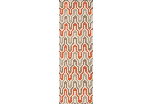 30X96 Rug-Andres Taupe/Tangerine - 360