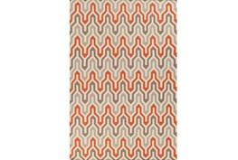 60X96 Rug-Andres Taupe/Tangerine