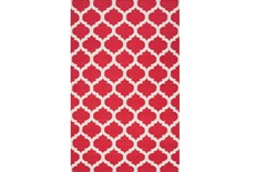 42X66 Rug-Tron Cherry/White