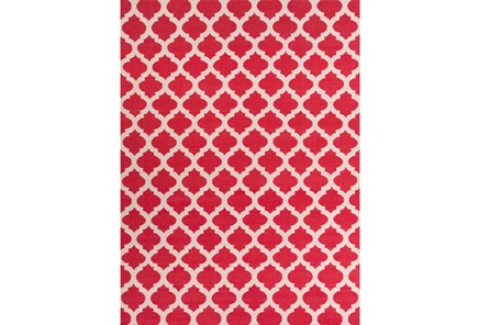 96X132 Rug-Tron Cherry/White