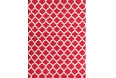 108X156 Rug-Tron Cherry/White