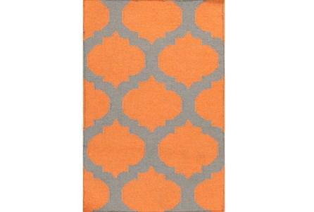24X36 Rug-Tron Tangerine/Grey