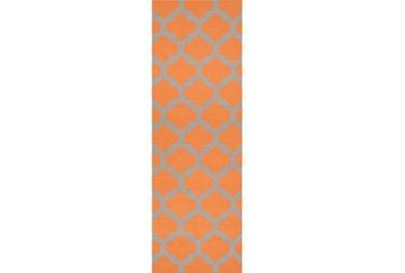 30X96 Rug-Tron Tangerine/Grey