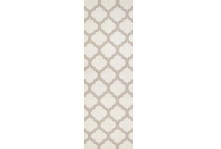 30X96 Rug-Tron Ivory/Grey