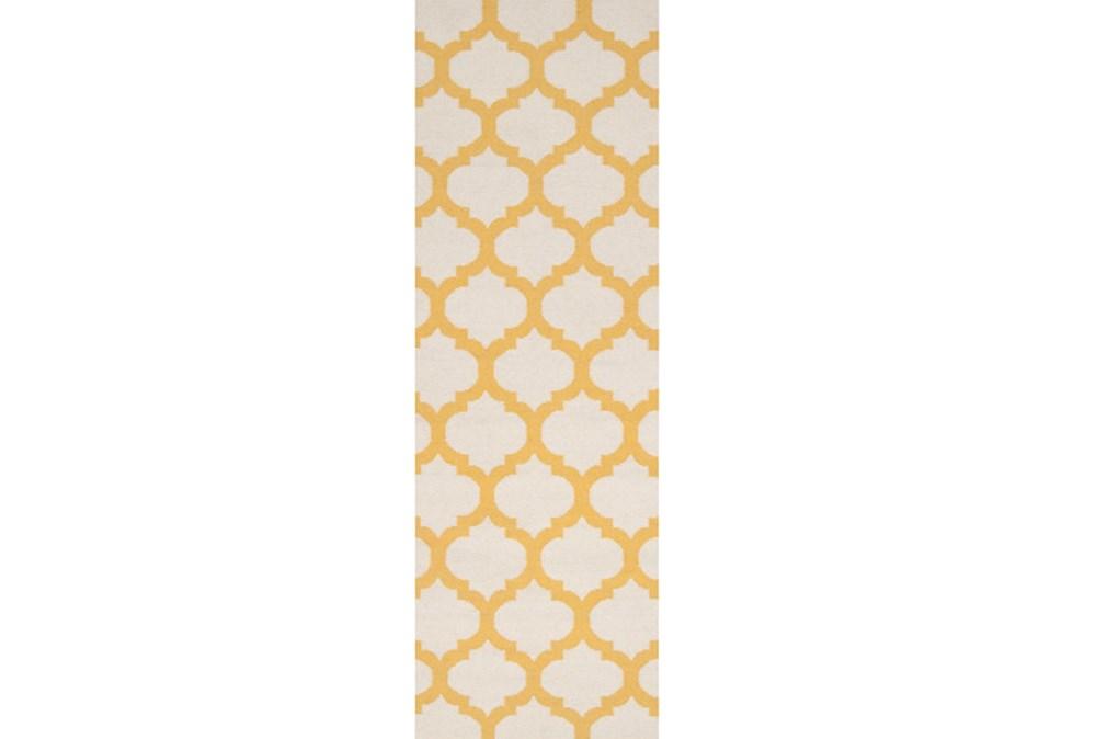 30X96 Rug-Tron Ivory/Gold