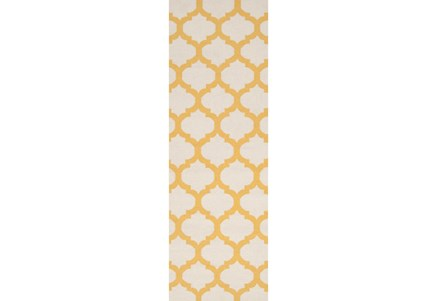 30X96 Rug-Tron Ivory/Gold