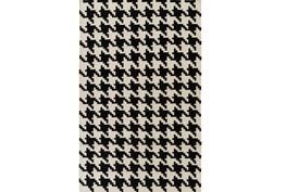 60X96 Rug-Diente Black/Ivory