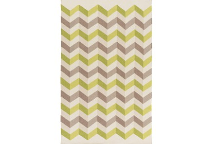 60X96 Rug-Accordion Olive/Grey