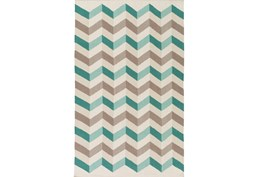 24X36 Rug-Accordion Teal/Grey