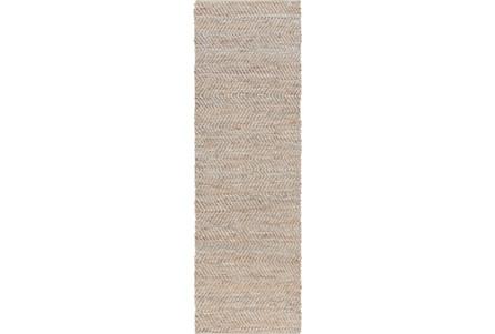 30X96 Rug-Terrain Beige/Slate