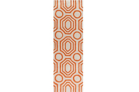 30X96 Rug-Joya Orange/Ivory