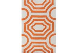 39X63 Rug-Joya Orange/Ivory