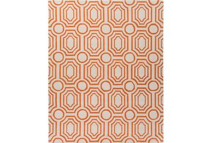96X120 Rug-Joya Orange/Ivory