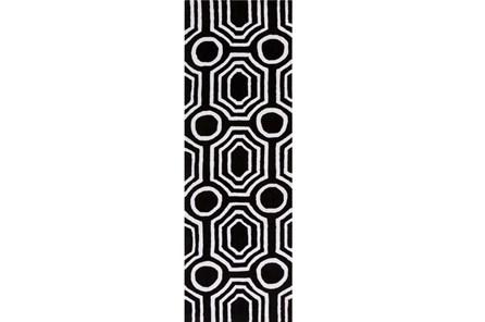 30X96 Rug-Joya Black/Ivory