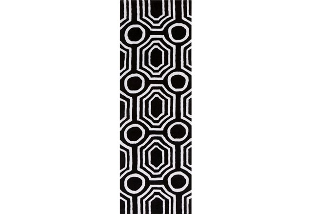 30X96 Rug-Joya Black/Ivory - 360