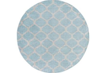 94 Inch Round Rug-Anor Slate