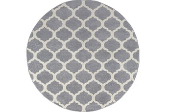 """7'9"""" Round Rug-Anor Charcoal"""