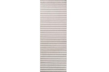 31X87 Rug-Karah Grey Stripe