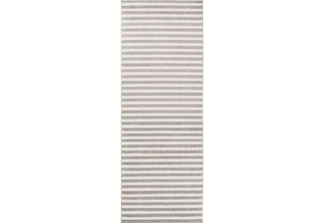 31X87 Rug-Karah Grey Stripe - 360