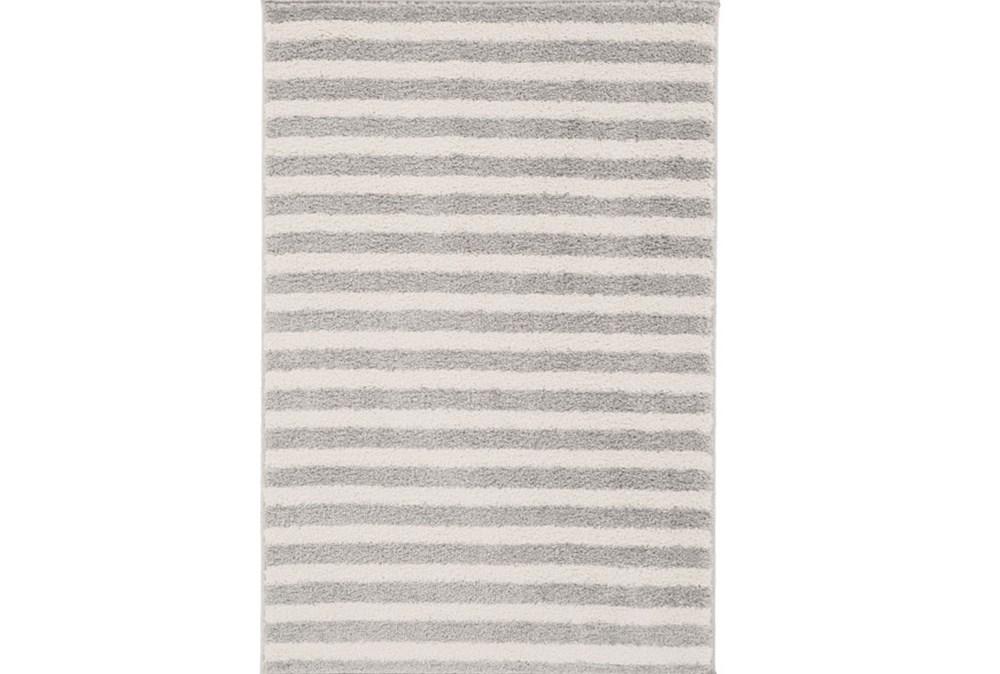 111X150 Rug-Karah Grey Stripe