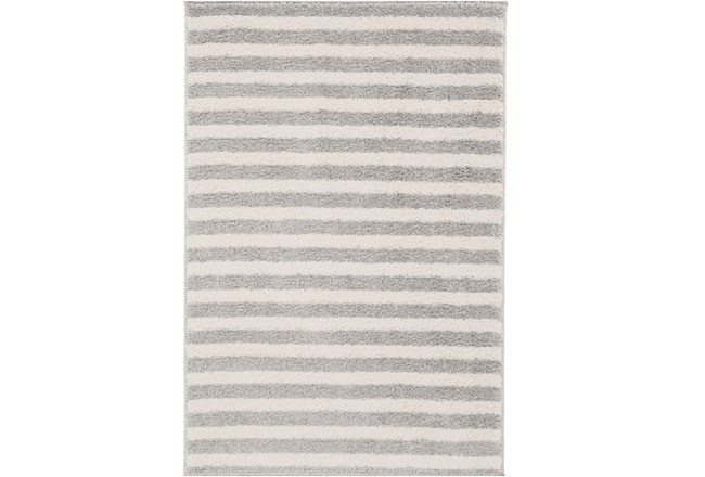 111X150 Rug-Karah Grey Stripe - 360