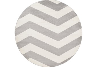 """7'9"""" Round Rug-Tambaleo Grey/White"""
