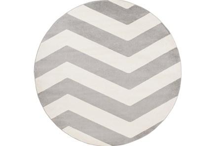 94 Inch Round Rug-Tambaleo Grey/White