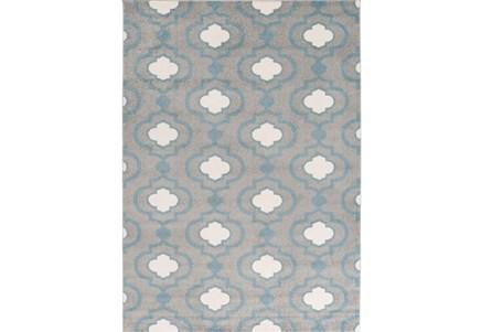 94X123 Rug-Quatrefoil Layers Slate