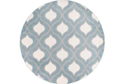 94 Inch Round Rug-Ornate Slate