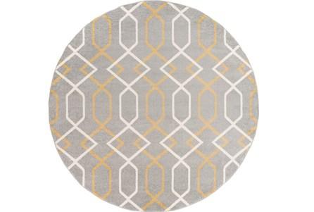 94 Inch Round Rug-Conrad Yellow