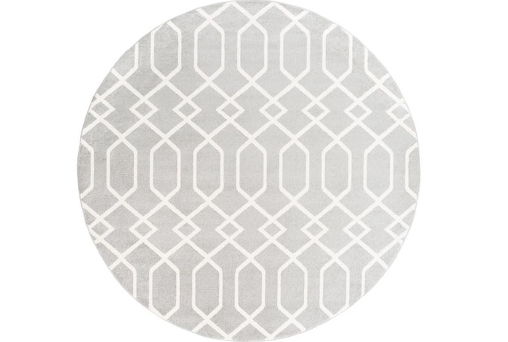 94 Inch Round Rug-Conrad Grey