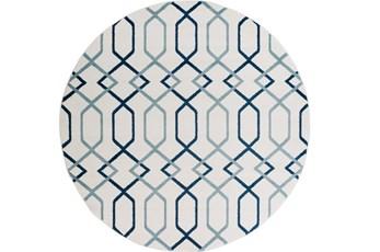 94 Inch Round Rug-Conrad Blue